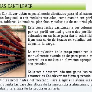 estanterias cantilever